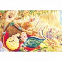 01-006  名家創作-Iris色鉛筆系列  童話閱讀森林-書中黃金屋  1000片