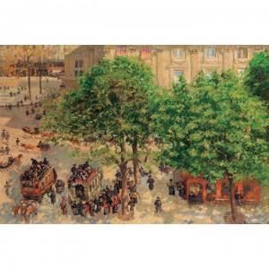 01-009名畫系列-劇場 Place du Theatre-Francais. Spring   1000