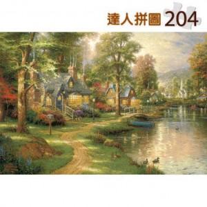 24-012 西洋油畫-光輝 204片達人極小拼圖