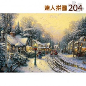 24-014 西洋油畫-雨中街景 204片達人極小拼圖