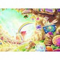 25-012  名家創作-Iris色鉛筆系列  閱讀森林-彩虹樹屋  520片拼圖
