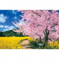 HM100-273 櫻花與向日葵拼圖1000片