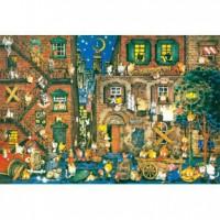 HM1000-042 精靈貓的街頭生活夜光拼圖1000片