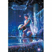HM1000-091 浪漫星座系列-水瓶座夜光拼圖1000片