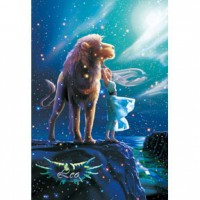 HM1000-095 浪漫星座系列-獅子座夜光拼圖1000片