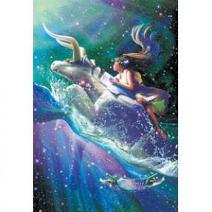 HM1000-096 浪漫星座系列-金牛座夜光拼圖1000片