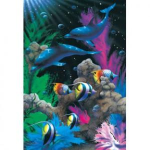 HM1000-125 海豚系列-熱帶海洋夜光拼圖1000片