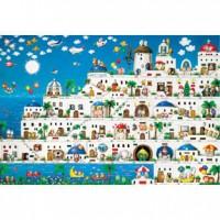 HM1000-147 貓在聖多里尼夜光拼圖1000片