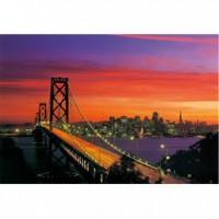 HM1000-158 舊金山金門大橋夜光拼圖1000片