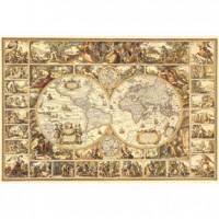 HM1000-184 古世界全圖夜光拼圖1000片