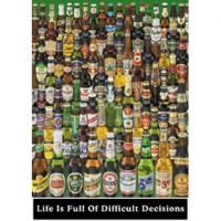 HM1000-215 啤酒海報-該選哪一罐?1000片夜光拼圖