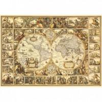 HM1600-004 古世界全圖夜光拼圖1600片