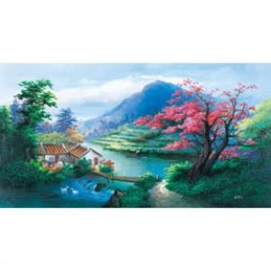 HM200-059 中國油畫-田野拼圖2000片