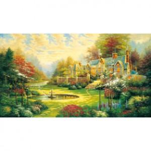 HM2000-025 西洋油畫-美麗人生夜光拼圖2000片