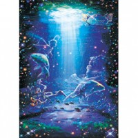 HM520-056 浪漫星座系列-雙魚座夜光拼圖520片