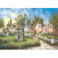 HM520-059 西洋油畫-庭園畫作夜光拼圖520片