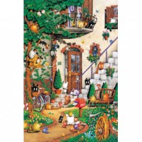 HM520-074 精靈貓の部屋夜光拼圖520片