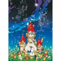 HM520-081 精靈貓の婚禮夜光拼圖520片
