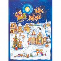 HM520-086 泰迪聖誕夜光拼圖520片