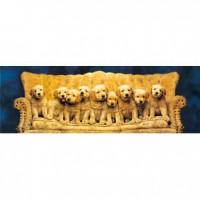 HM954-022G 沙發上的狗夜光拼圖954片