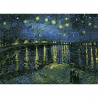 K25-008 名畫系列-隆河的星夜(梵谷 Van Gogh)520片夜光拼圖