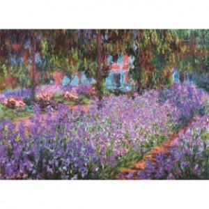 K25-010 名畫系列-莫內花園裡的鳶尾花(莫內 Monet)520片夜光拼圖