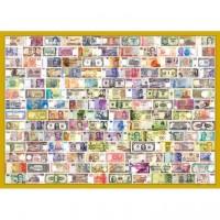 1600片拼圖 收集世界-世界紙幣